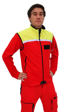 Safety Jacket with Zip-Off Sleeves